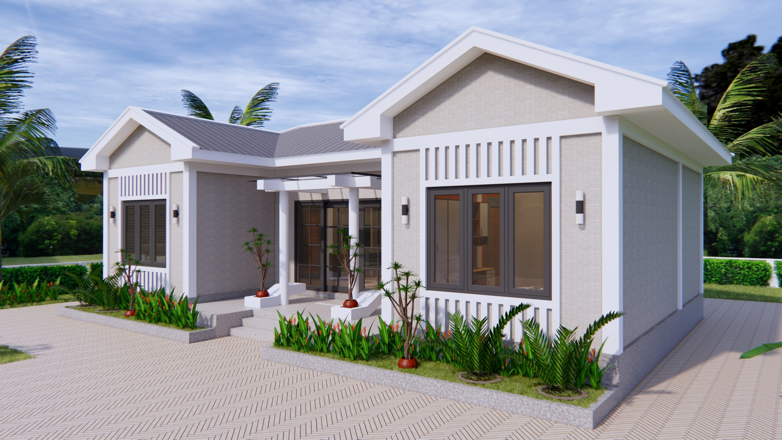 Modern Architecture Homes 13x7.5 Meter 43x25 Feet 3 Beds 4
