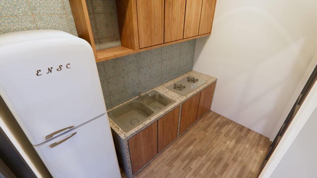 Modern Architecture Homes 13x7.5 Meter 43x25 Feet 3 Beds Kitchen 1