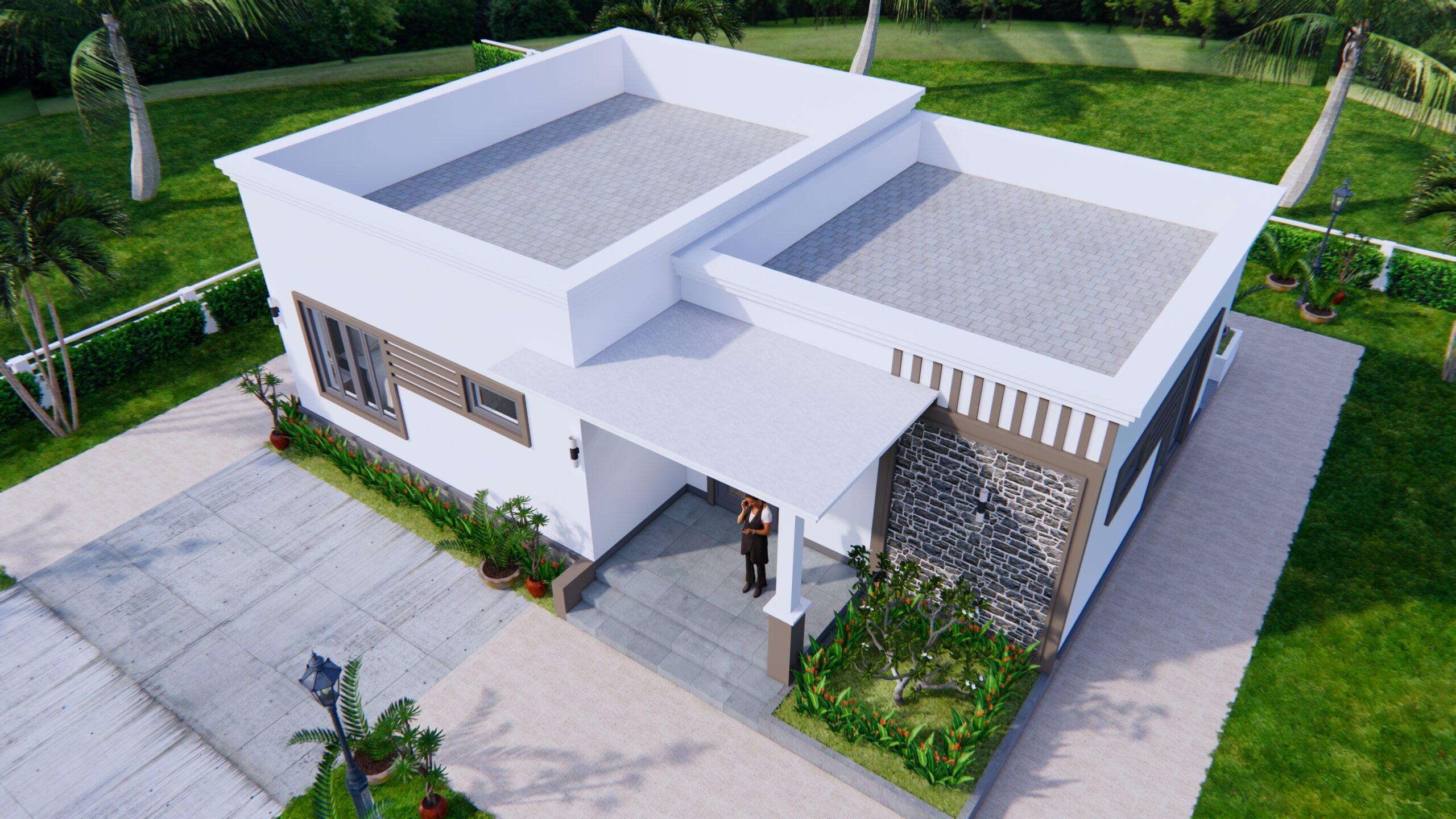 Online House Design 12x9 Meter 40x30 Feet 2 Beds 5