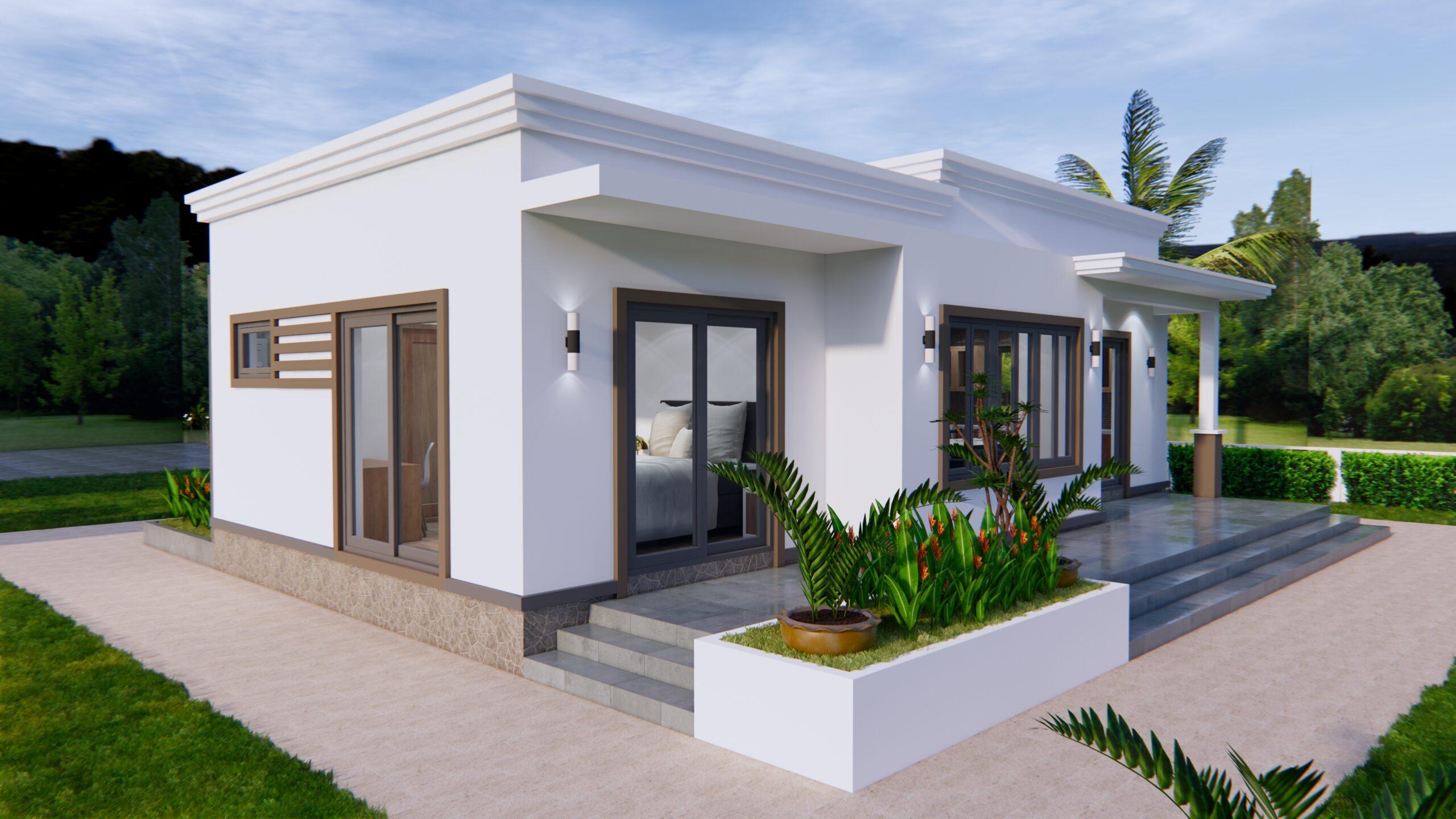 Online House Design 12x9 Meter 40x30 Feet 2 Beds 6