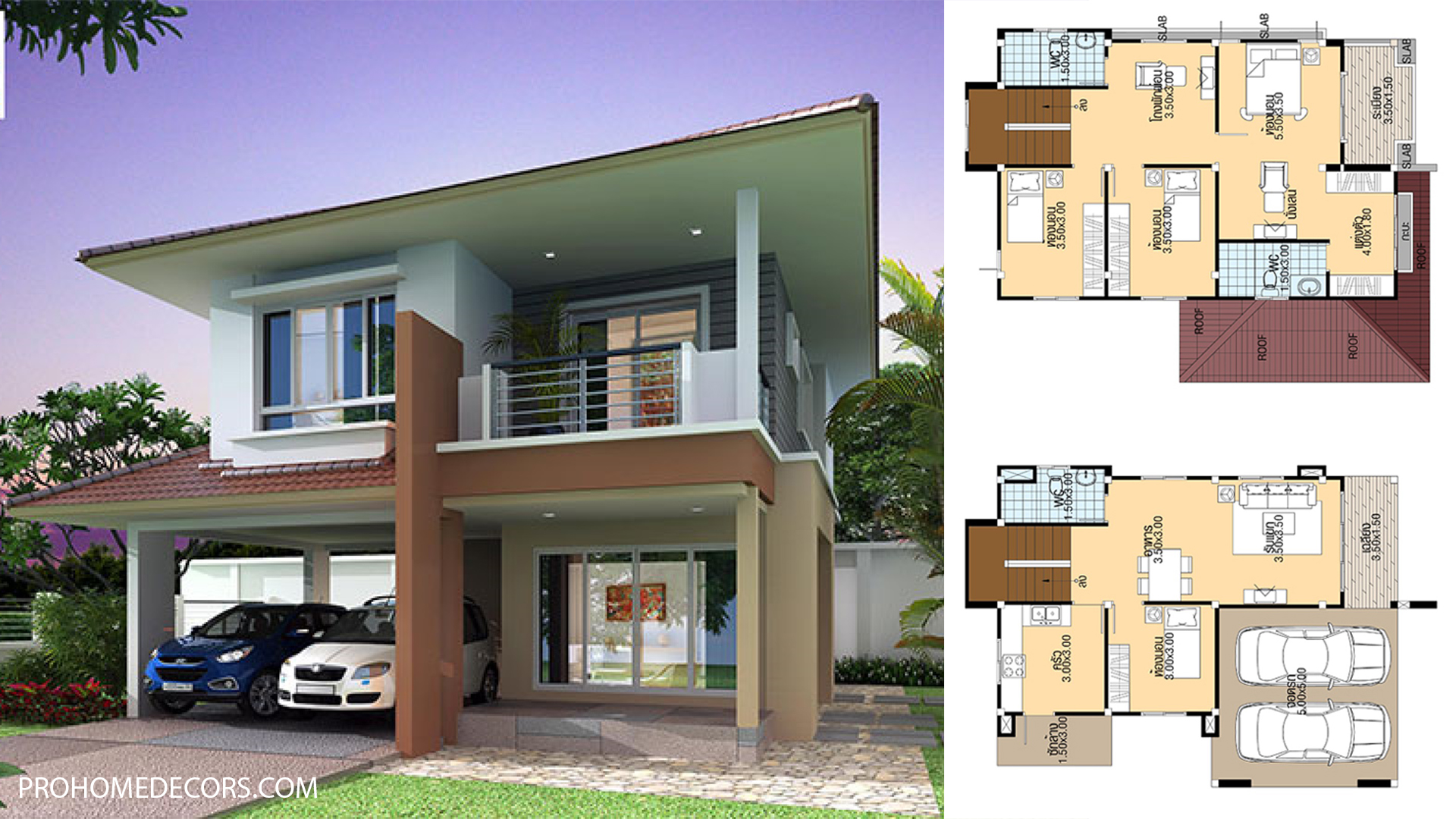 Small House Design 8.5×11 with 4 bedrooms
