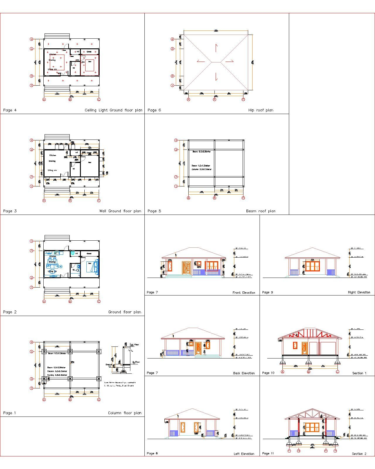 32x16 House Plans you will recieved