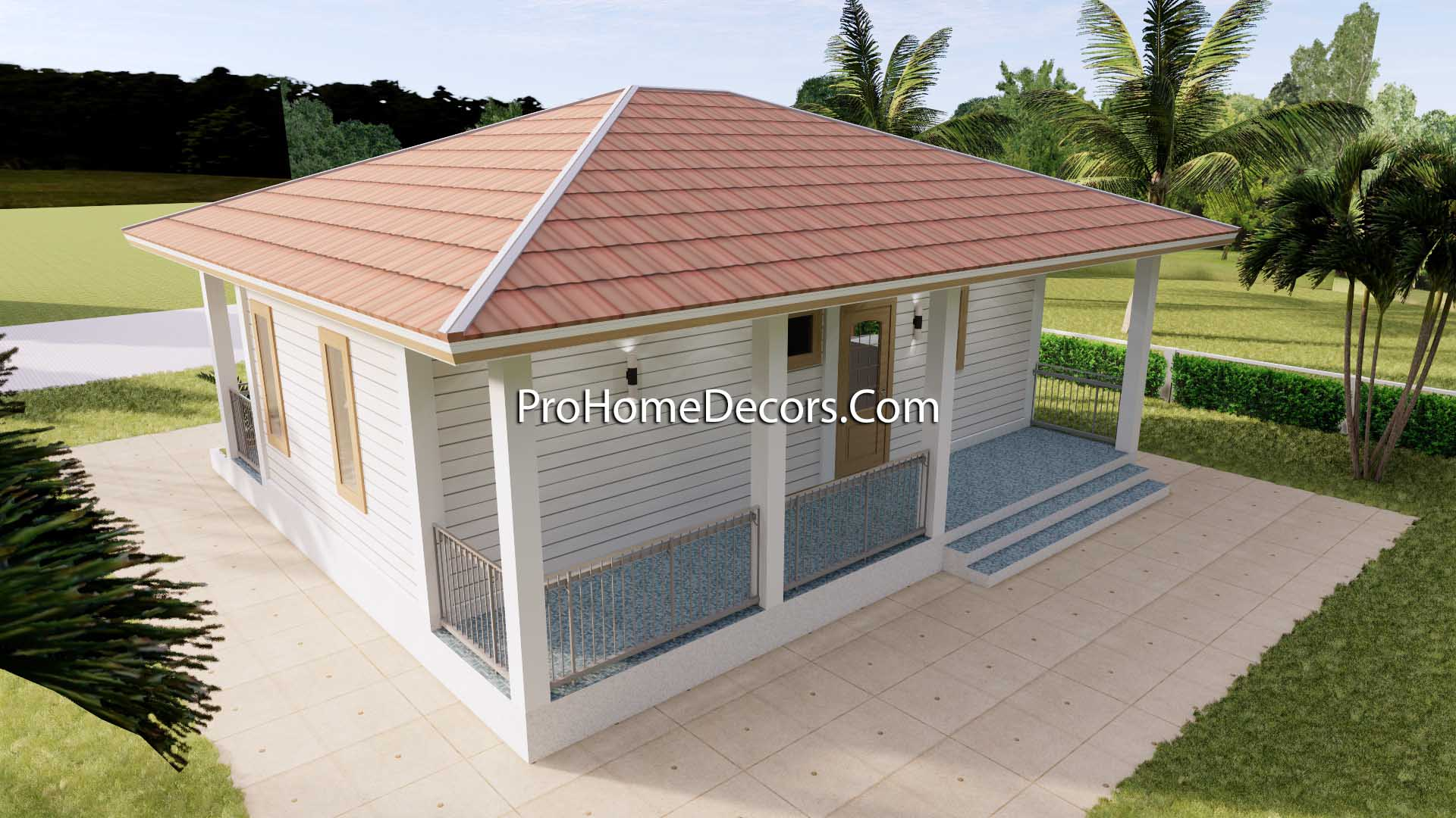 House Plans 32x16 with 1 Bedroom PDF Floor Plan 3