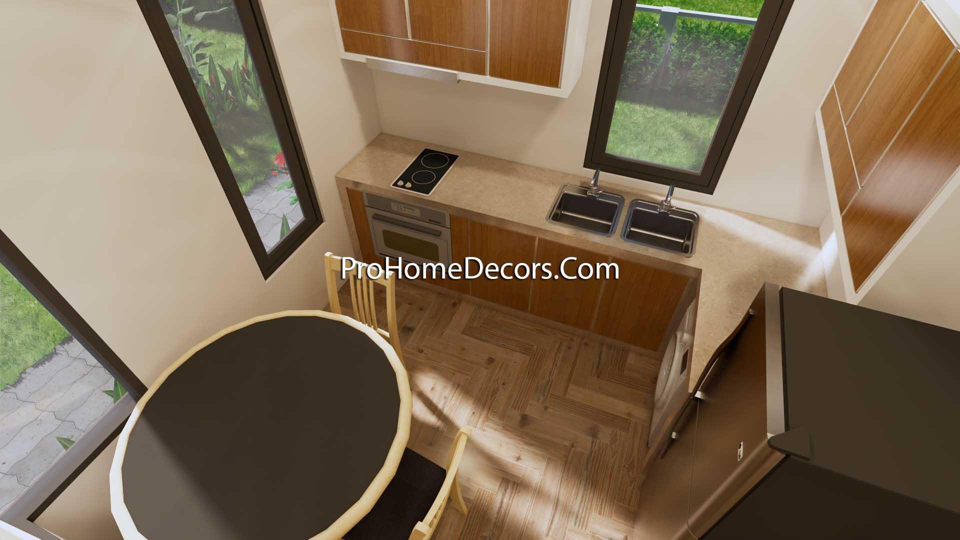 Small Home Design 6.5x6 Meter 22x20 Feet Hip Roof Kitchen 1