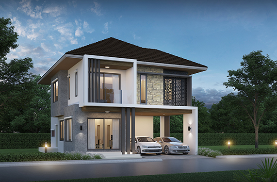 House Plan 3d 13x16 with 5 Bedrooms
