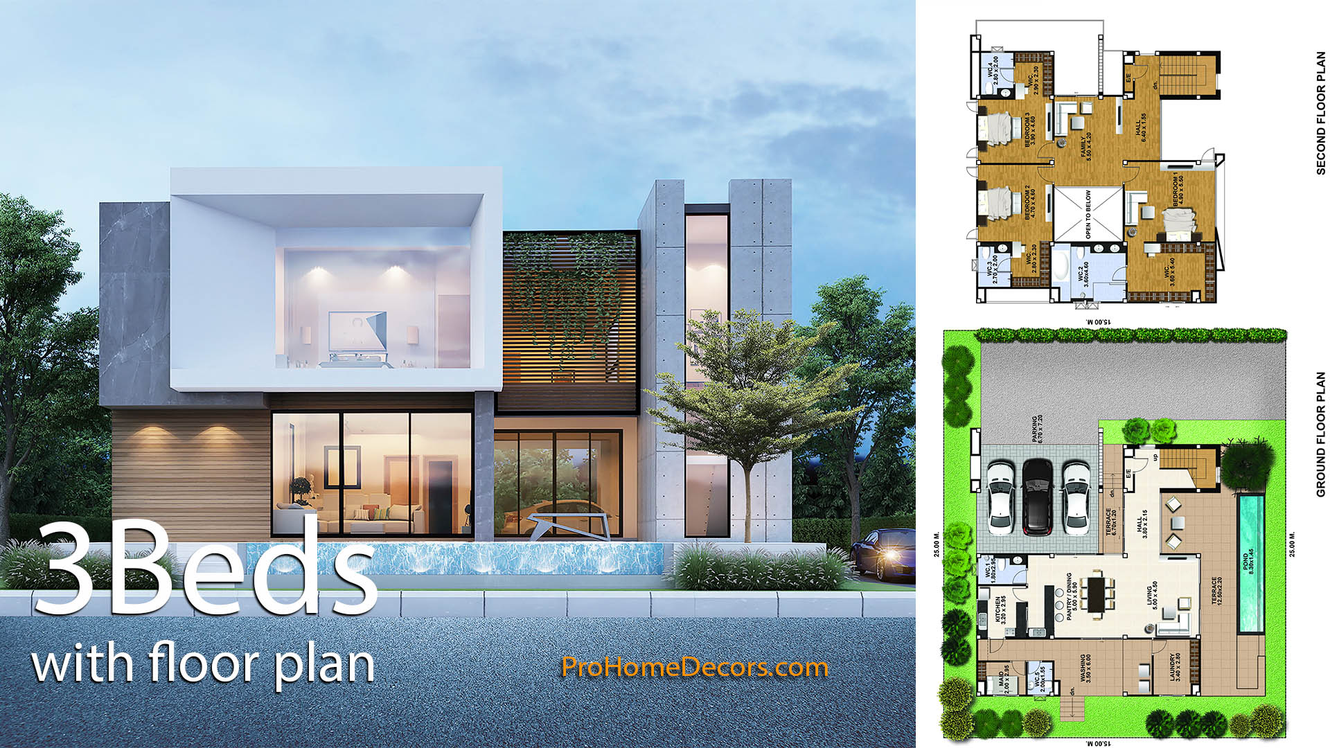 House Design Plot 25×21 with 3 Bedrooms