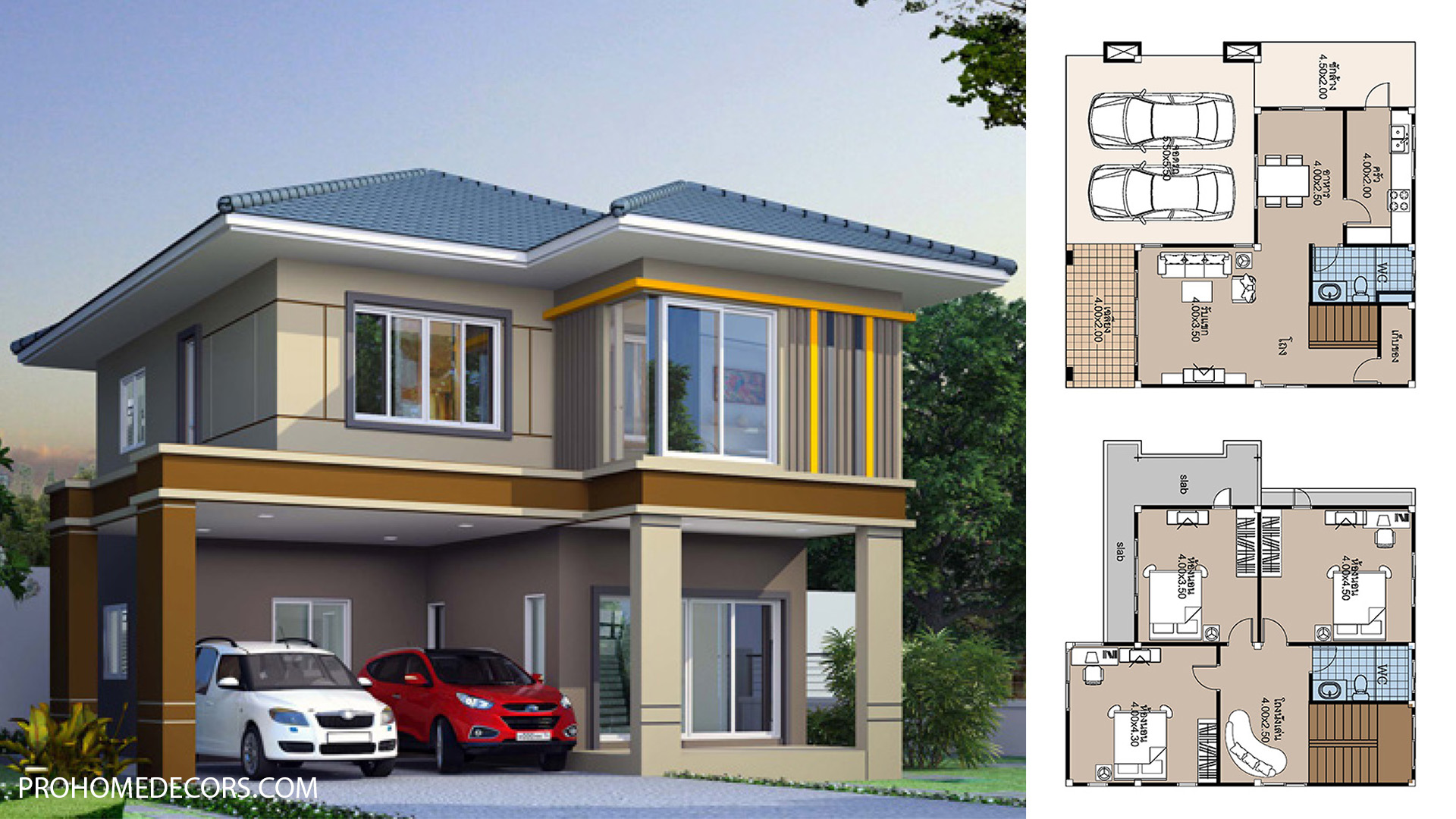 House Plans 10×10 with 3 Bedrooms