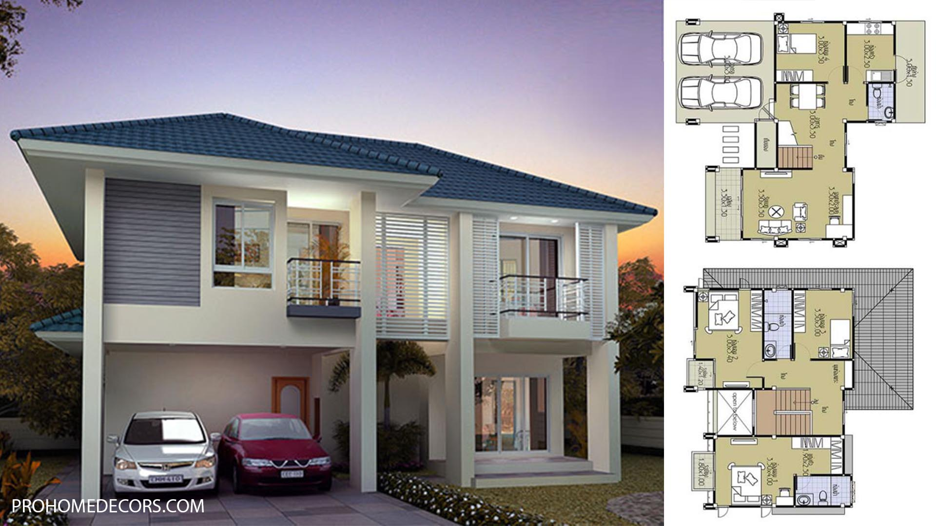 House Plans 11×10 with 4 Beds