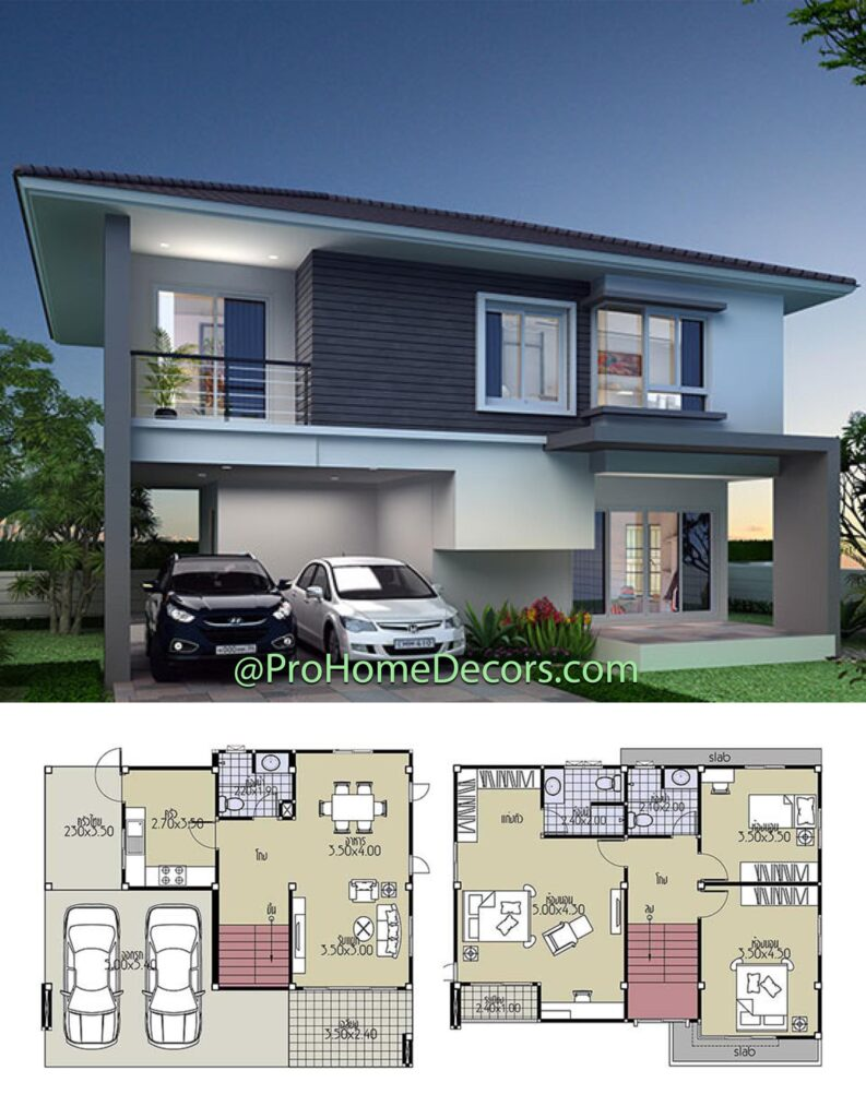 House Plans 11x8 with 3 Bedrooms
