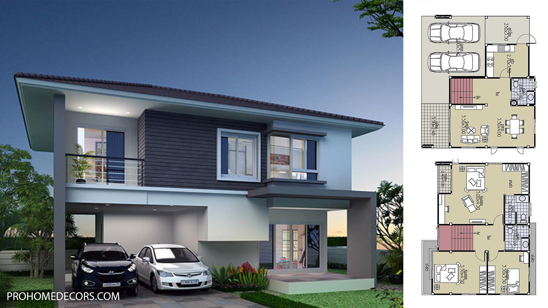 House Plans 11×8 with 3 Bedrooms