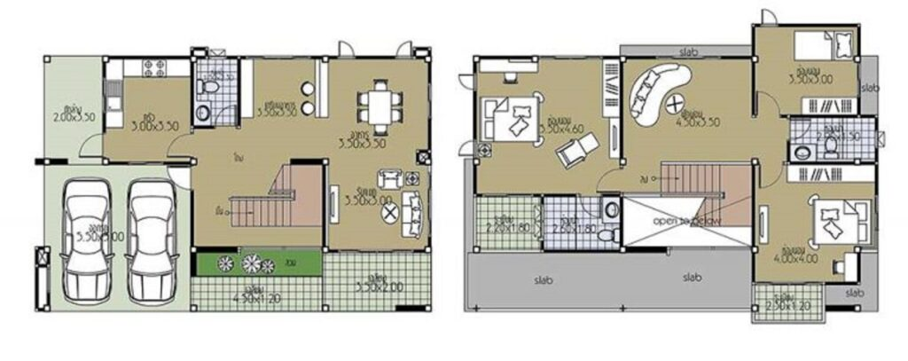 House Plans 12.5x8.5 with 3 Bedrooms floor plans