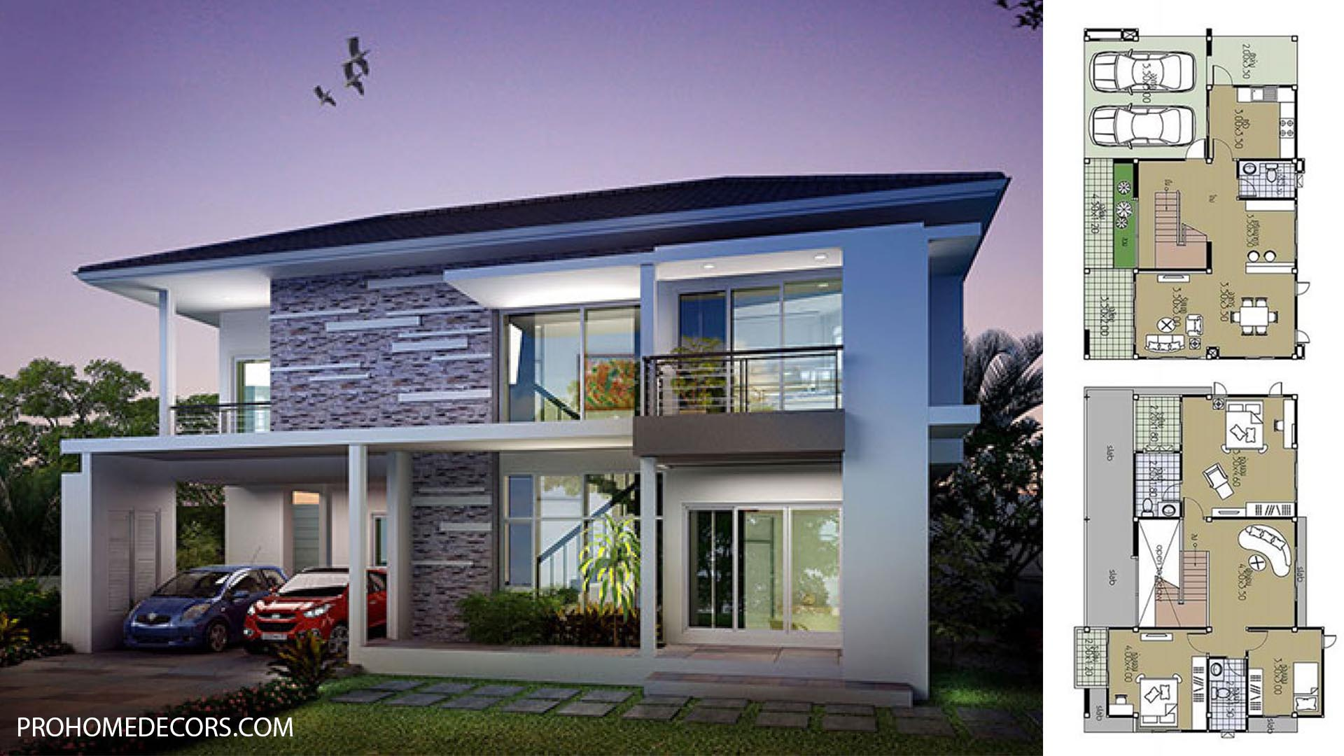 House Plans 12.5×8.5 with 3 Bedrooms