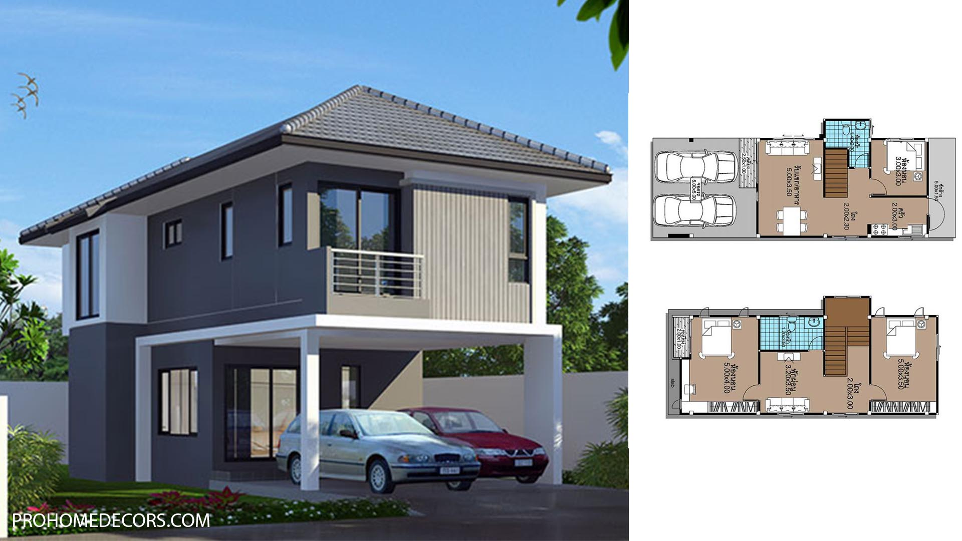 House Plans 5×12.3 with 3 Beds