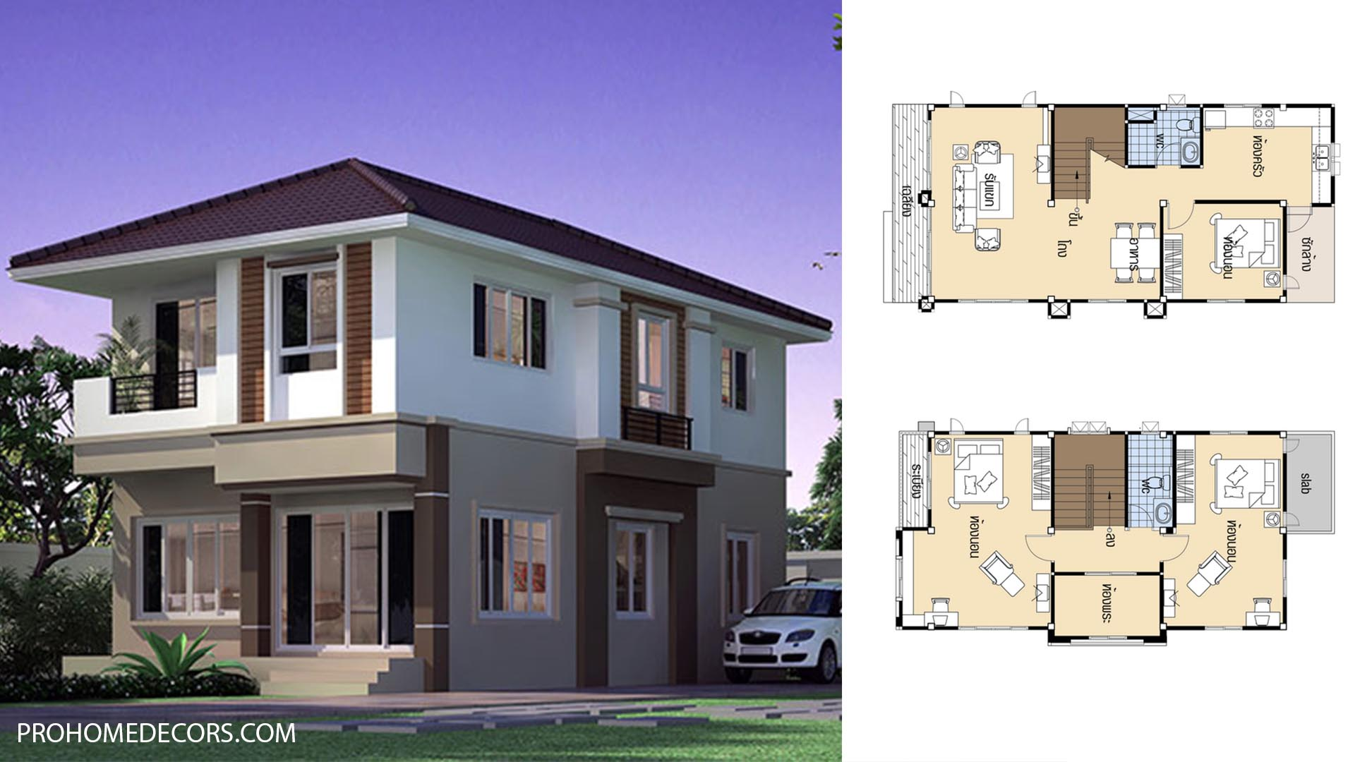 House Plans 6.3×11.5 with 3 Beds
