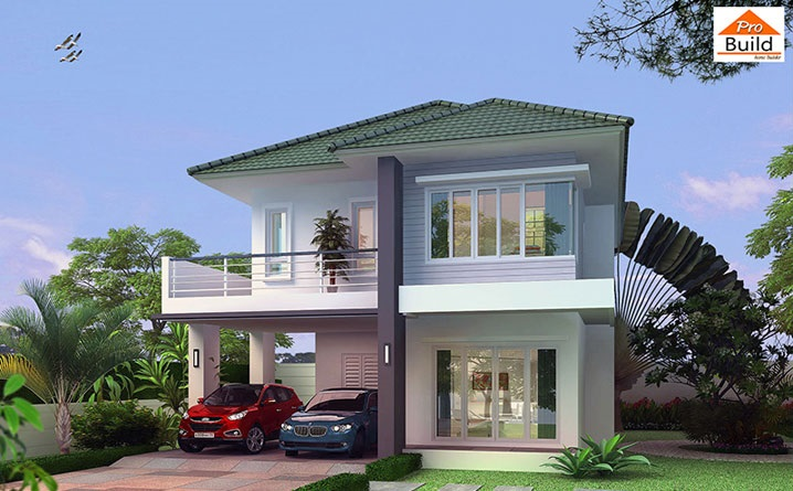 House Plans 8.5x10.2 with 3 Beds floor plan