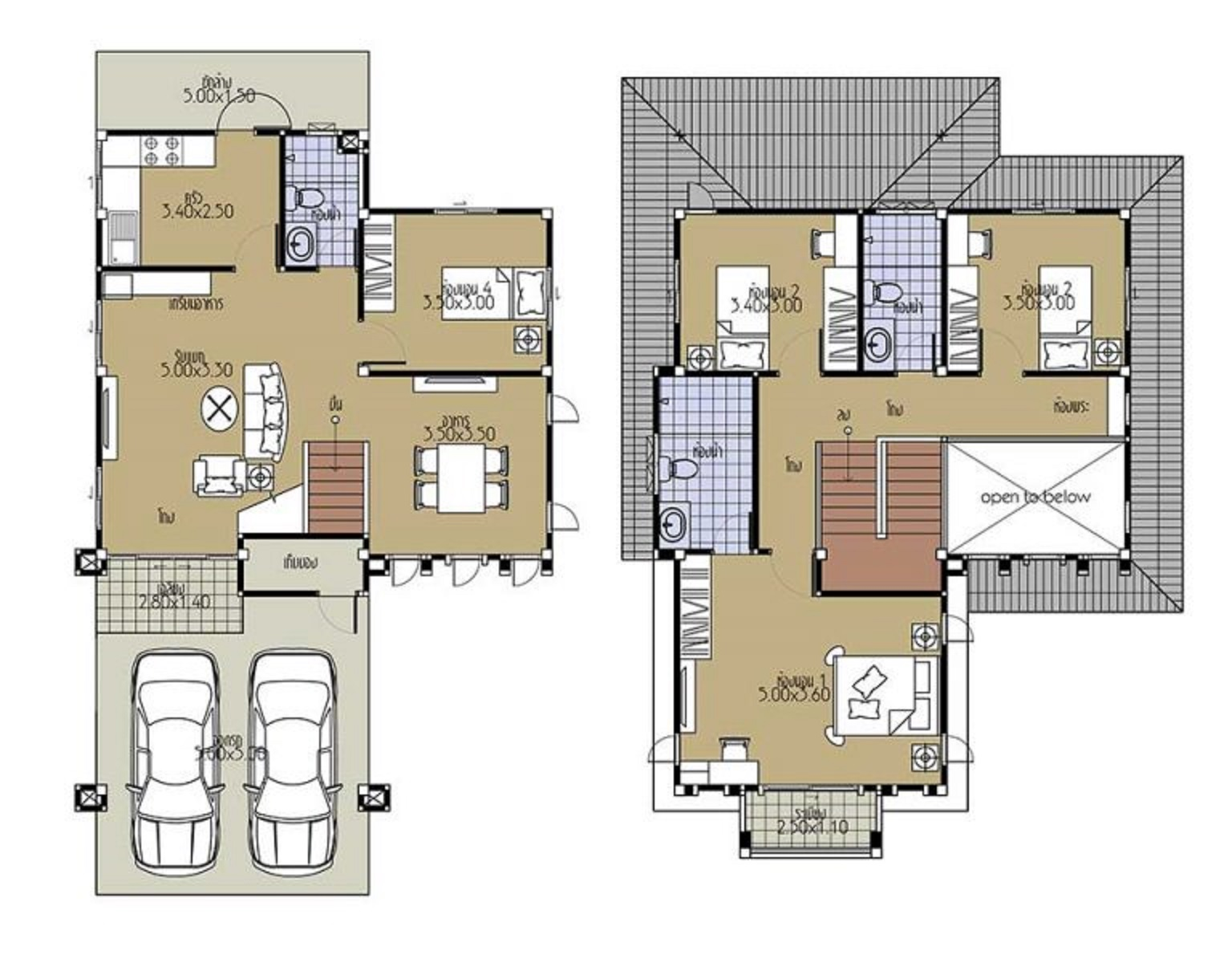 House-Plans-8.5x13.5-with-4-Bedrooms-floor-plans