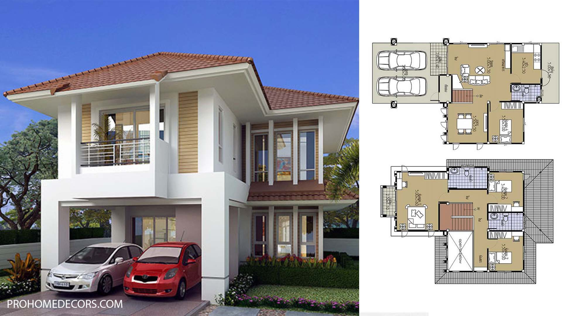 House Plans 8.5×13.5 with 4 Bedrooms