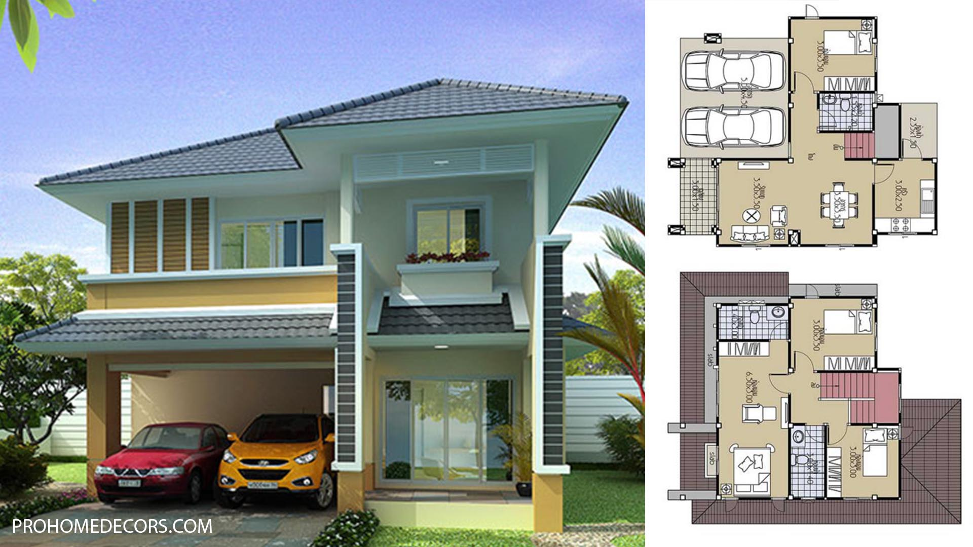 House Plans 8×10.5 with 4 Beds