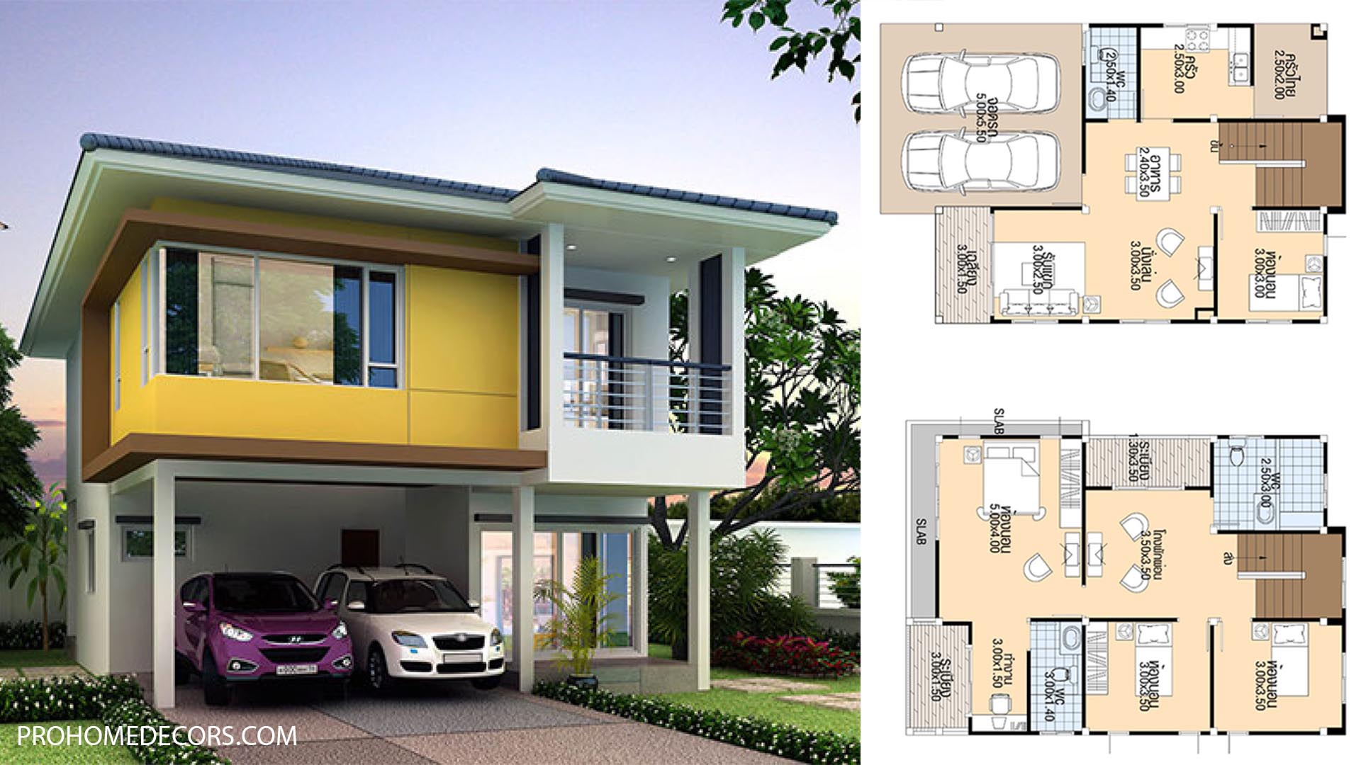 House Plans 8×10.5 with 4 bedrooms
