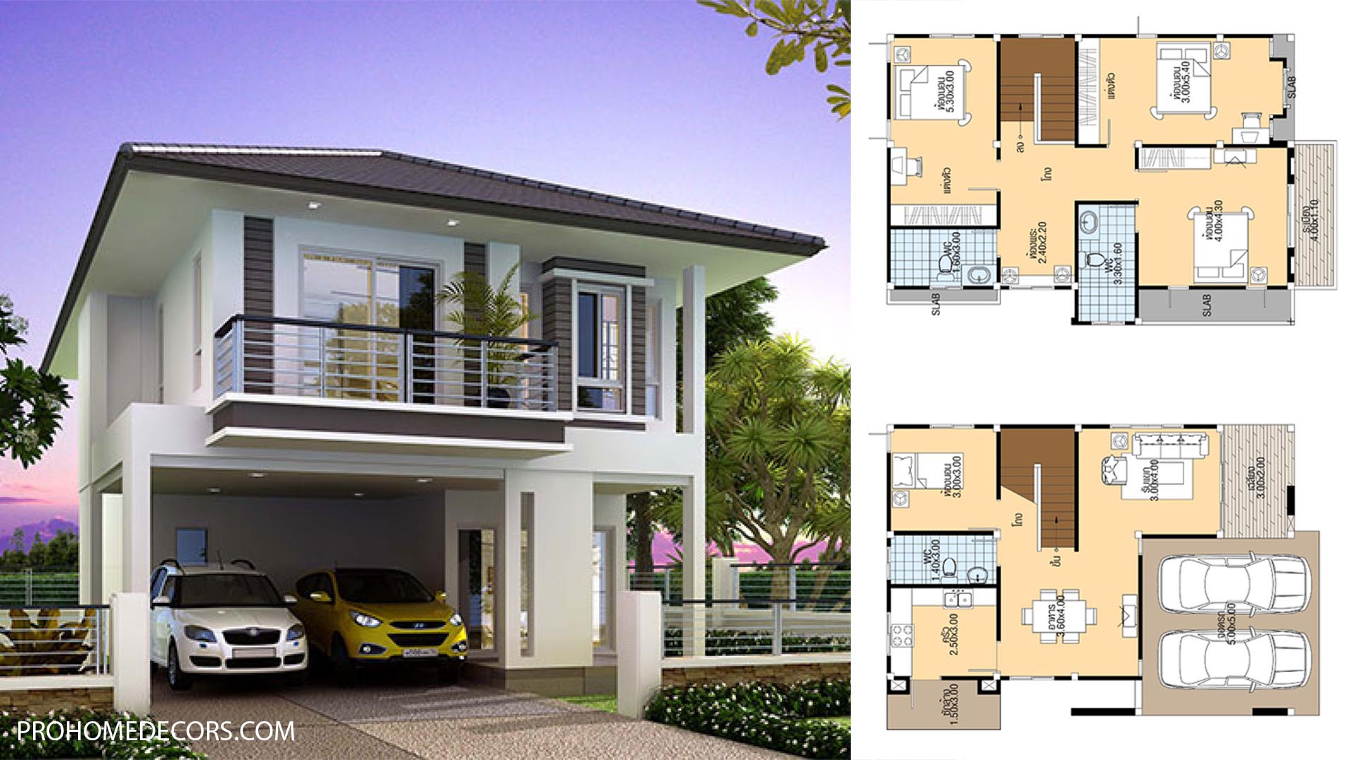 House Plans 8×12 with 4 Bedrooms