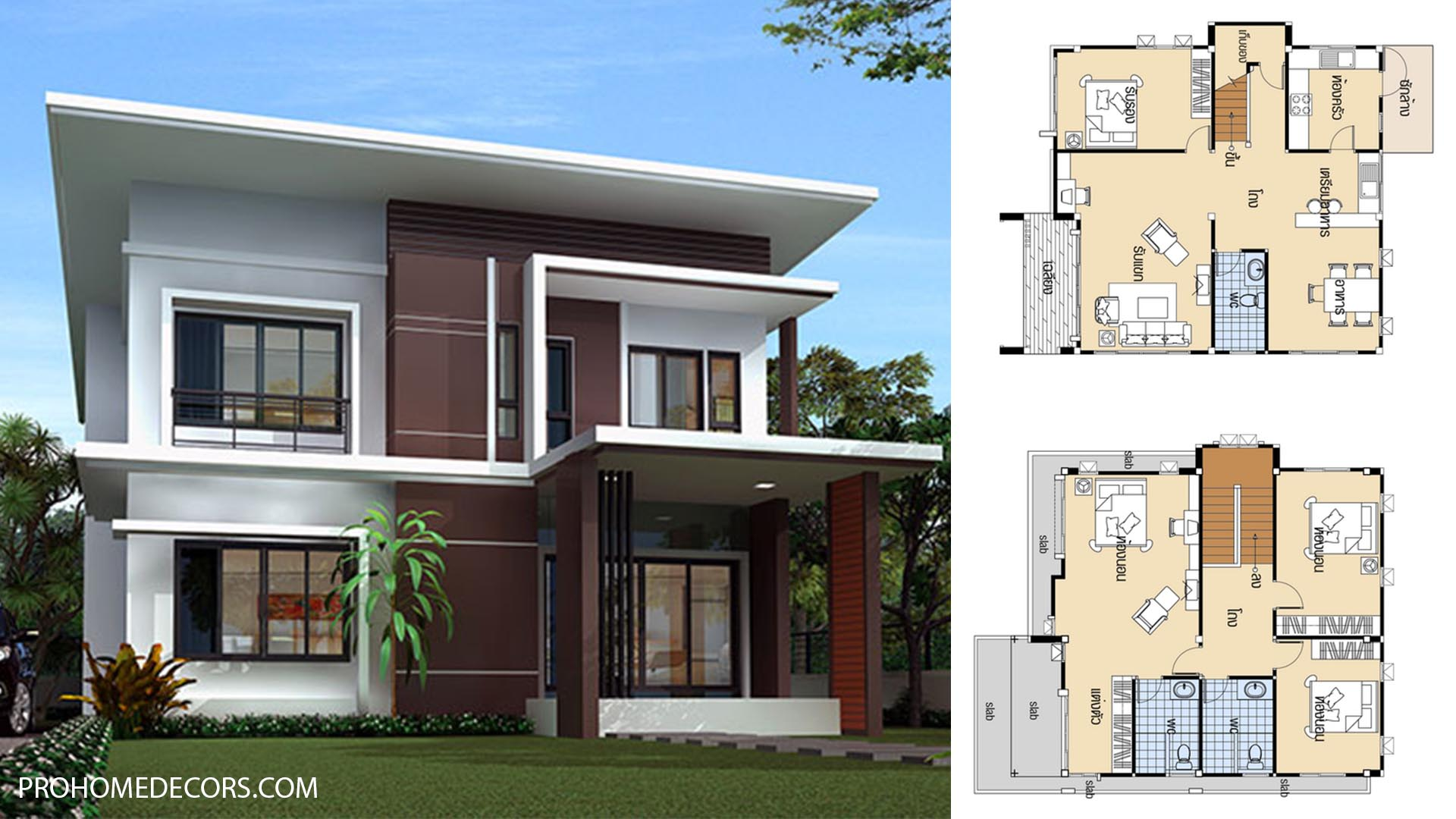 House Plans 9.7×11.4 with 4 Beds