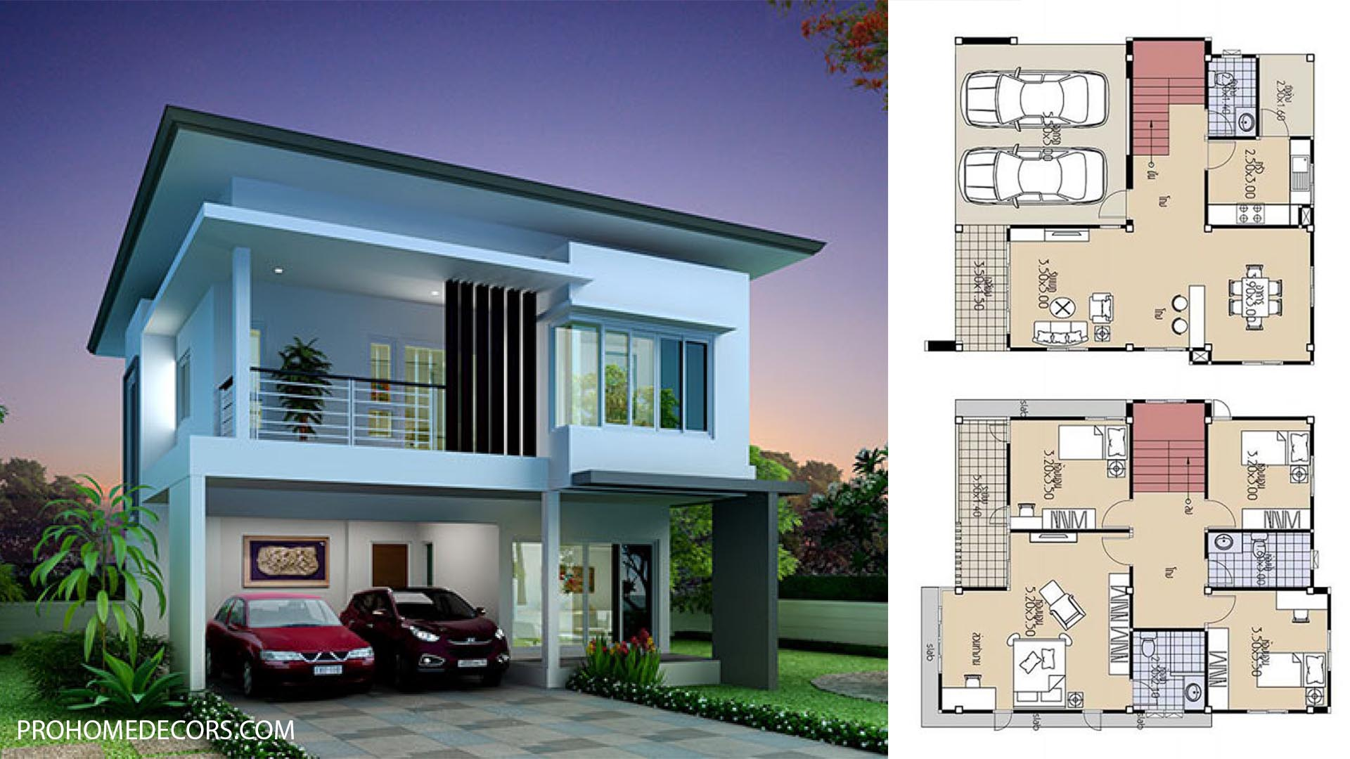 House Plans 9×10.5 with 4 Bedrooms