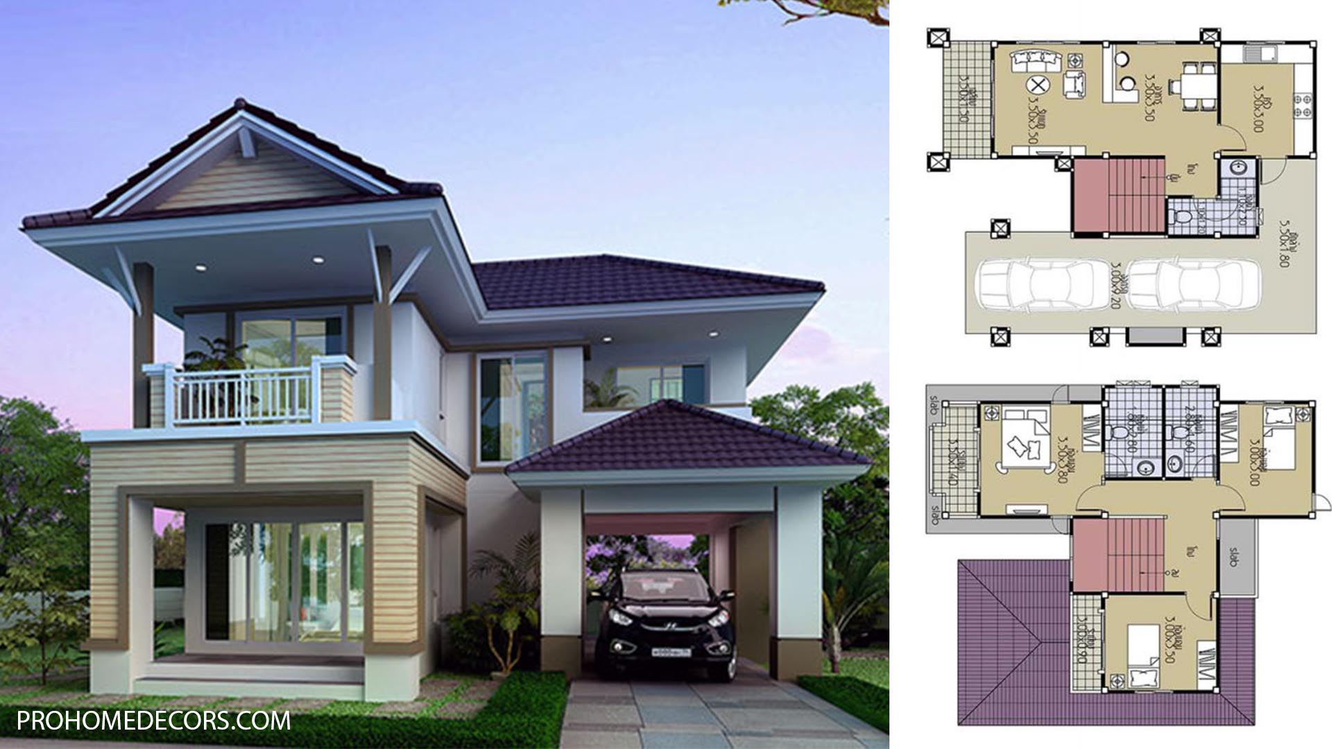 House Plans 9×11.5 with 3 Beds