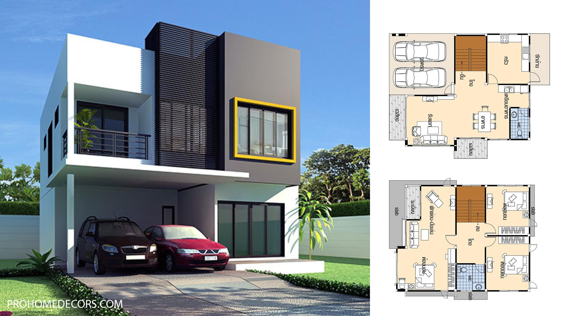 House Plans 9×12 with 3 Bedrooms