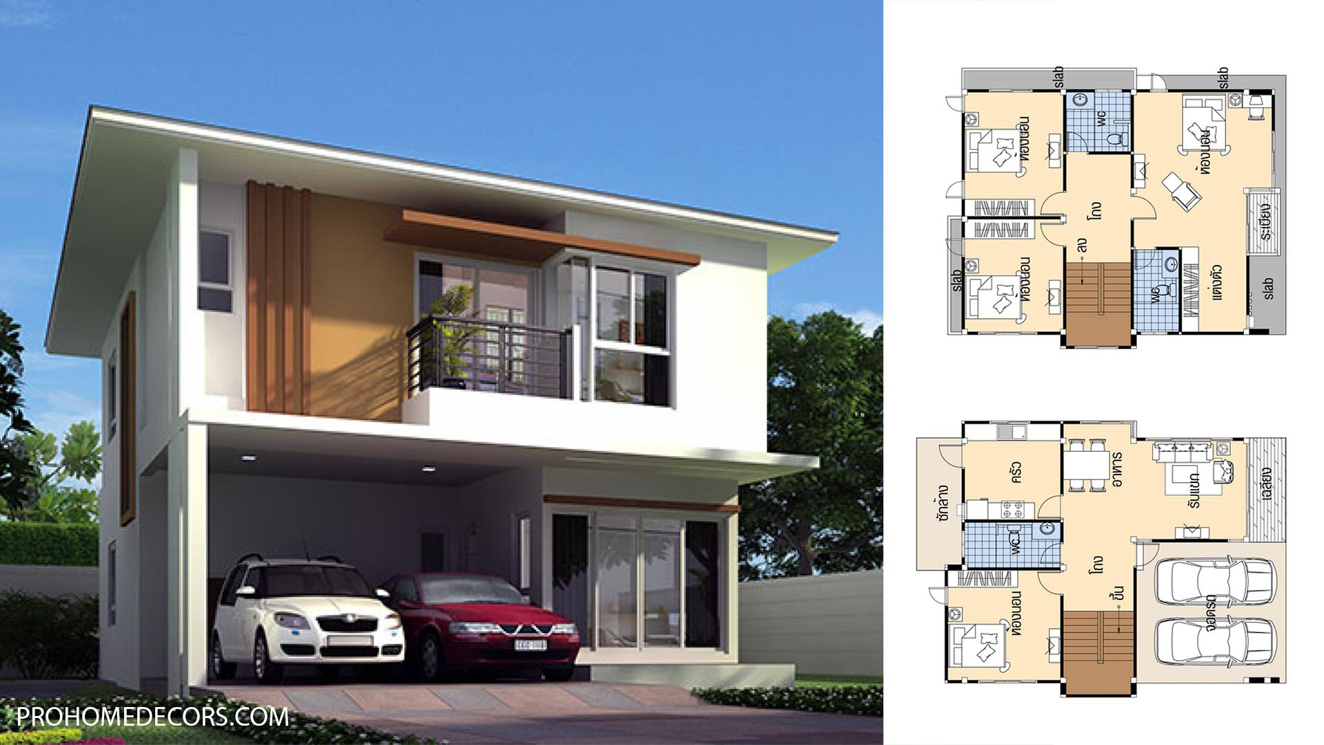 House Plans 9×12.5 with 4 Bedrooms