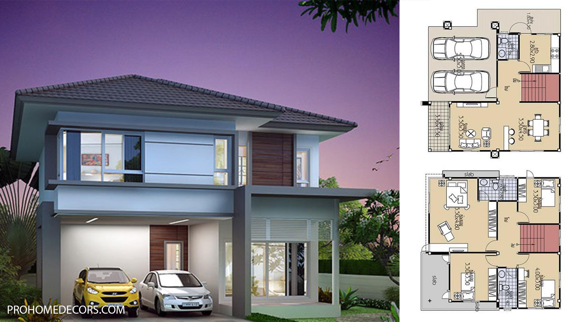 House Plans 9×9.5 with 4 Beds