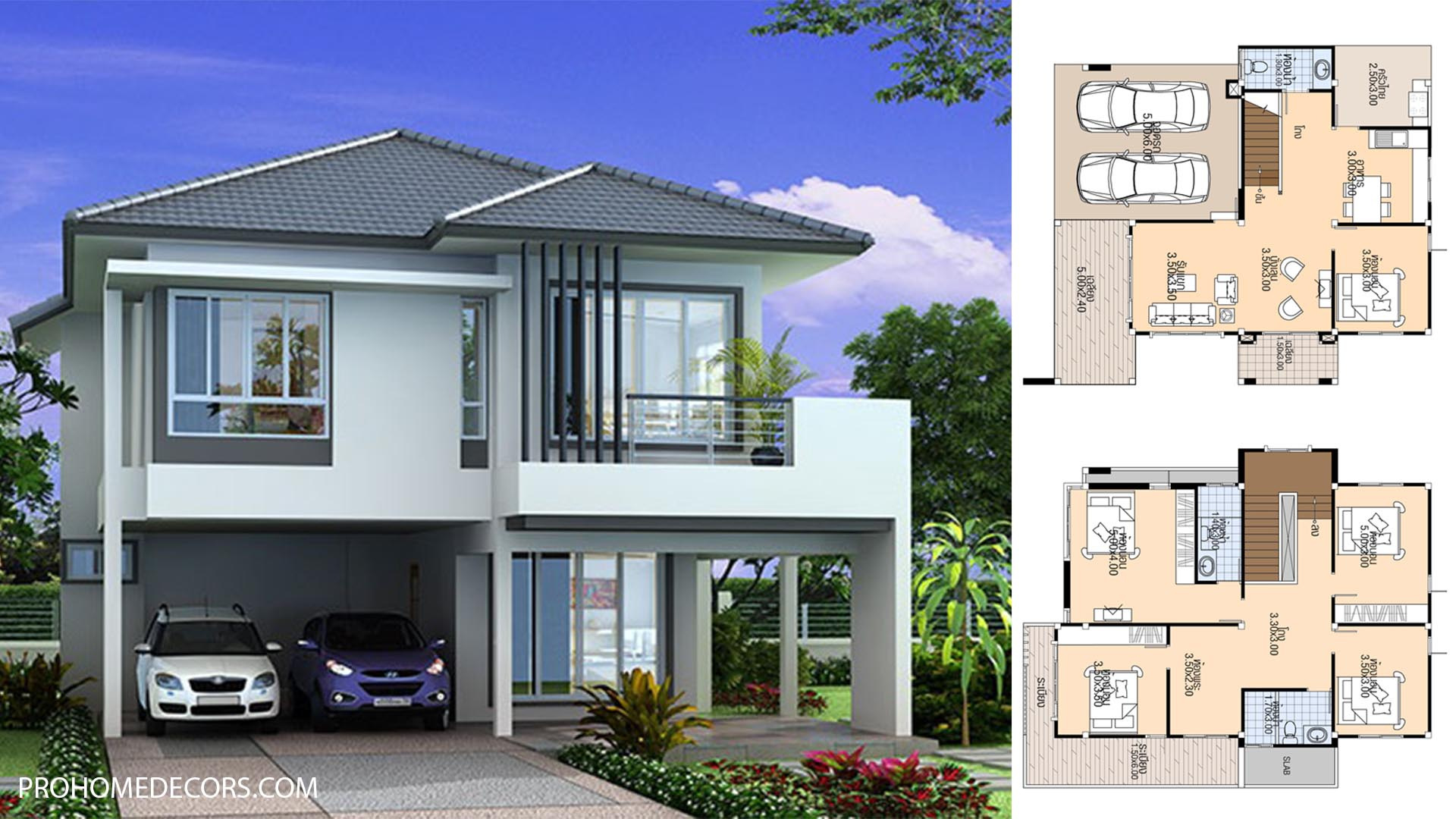House plans 10×11.8 with 5 Beds