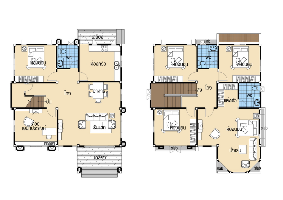 House plans 10x12 with 5 Beds floor plan