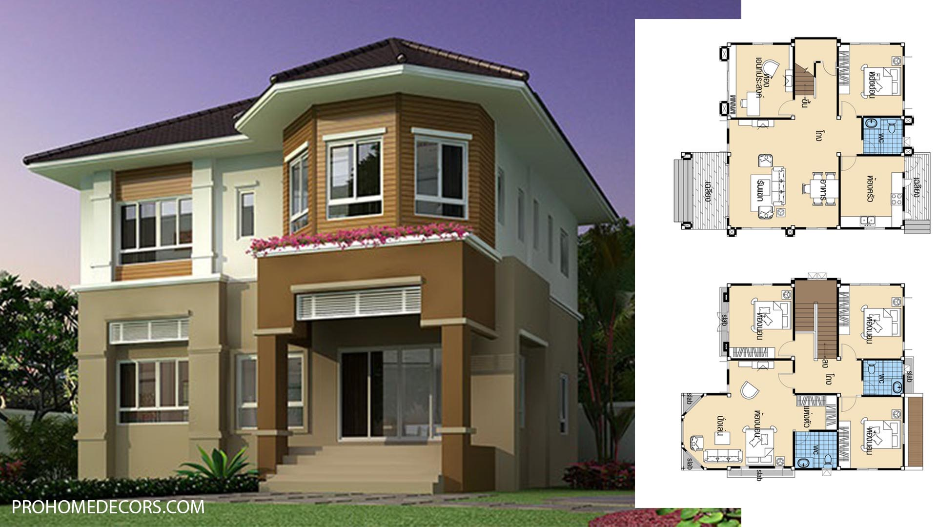 House plans 10×12 with 5 Beds