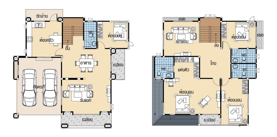 House plans 12.5x12 with 4 Beds floor plan