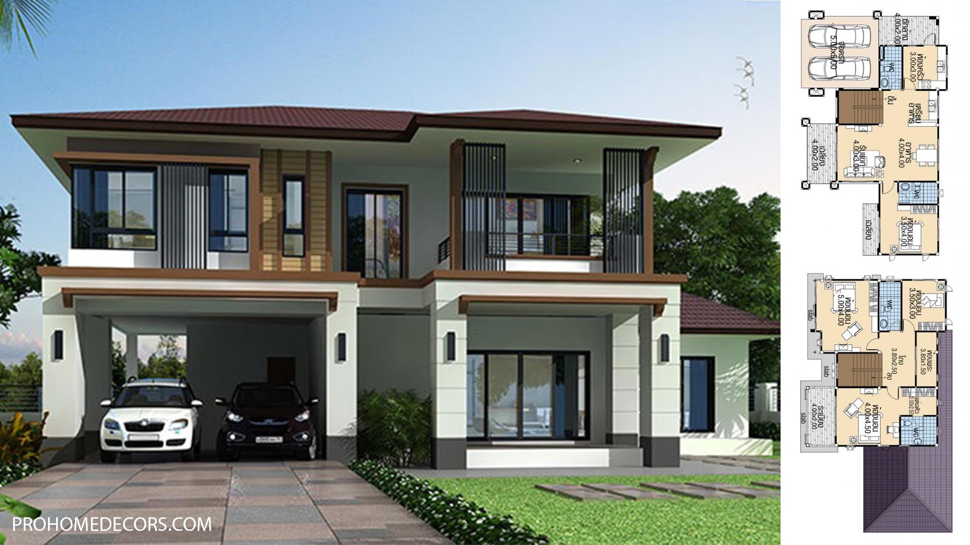 House plans 16.5×9 with 4 Beds