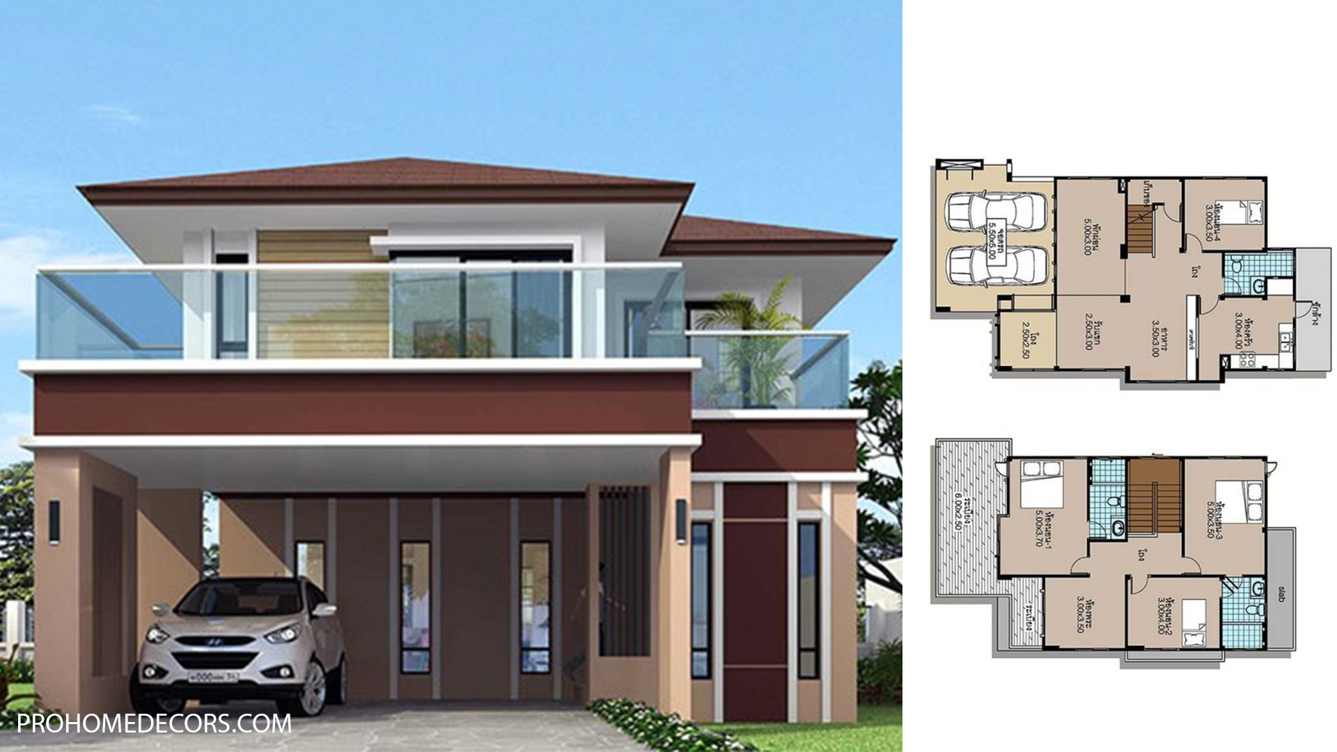 House plans 8×13 with 4 Beds