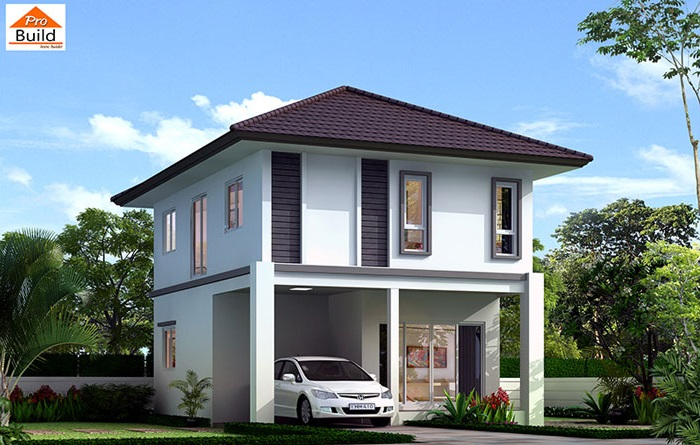 Small House Plans 6.5x8.2 with 3 Beds