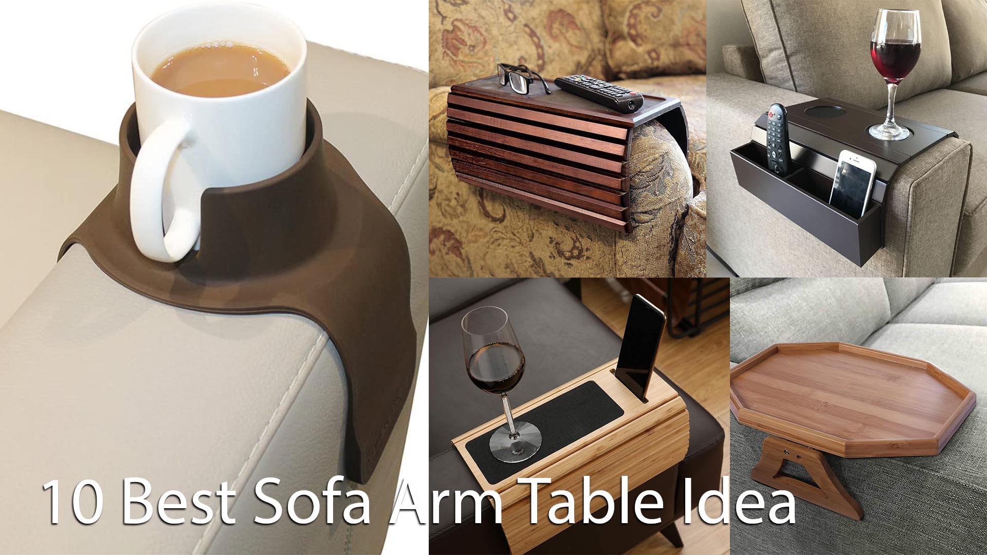 Best Sofa Arm Table Idea For Living Room