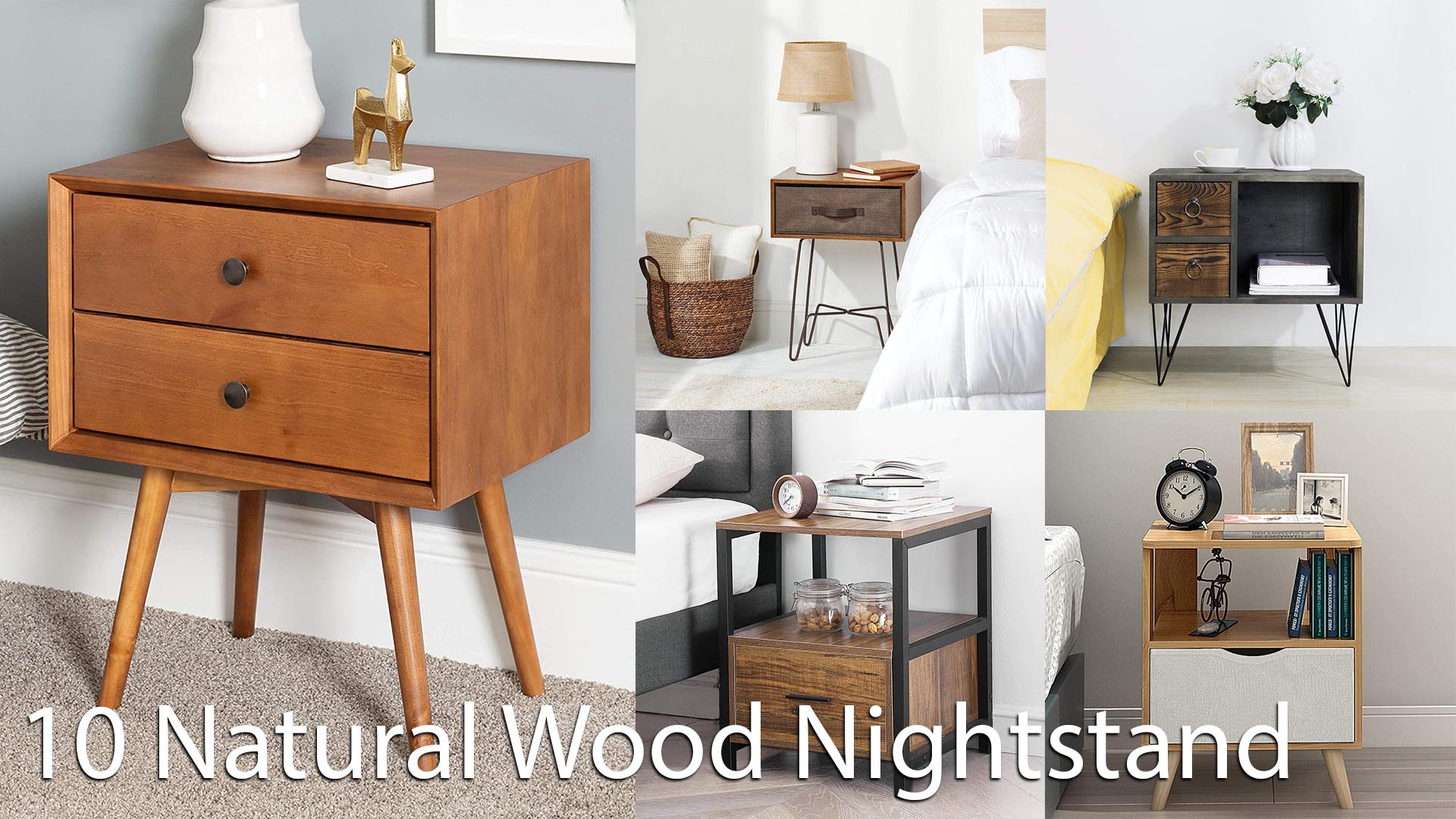 10 Best Natural Wood Nightstand for Your Home